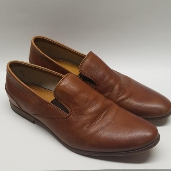 Aldo Mens Brown Slip On Dress Shoes Sz